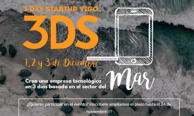 TERCERA EDICIÓN DE 3 DAY STARTUP VIGO DEL 1 AL 3 DE DICIEMBRE