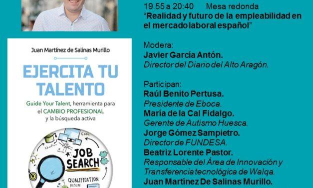 EVENTO GRATUITO EL 13 DE JUNIO PARA PRESENTAR EL LIBRO EJERCITA TU TALENTO EN HUESCA