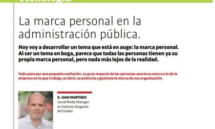 """ARTICULO """"LA MARCA PERSONAL EN LA ADMINISTRACIÓN PÚBLICA"""" PUBLICADO EN EL BOLETIC DE ASTIC"""